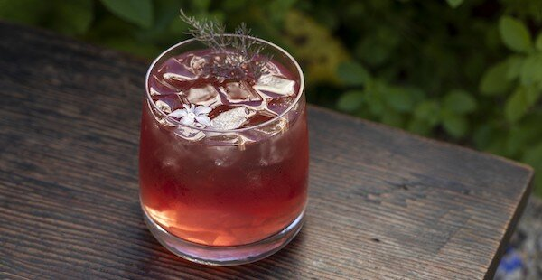 Black Currant Old-Fashioned